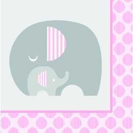 Serviettes en Papier Baby Shower Elephant Pastel