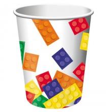 Gobelets Verres à thème Anniversaire Lego et Bloc Party