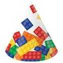 8 Chapeaux de fête à thème Anniversaire Lego et Bloc Party