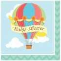 Serviettes Baby Shower Montgolfières