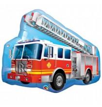 Ballon XXL Hélium Anniversaire Camion de Pompier