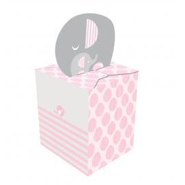 8 Boîtes Cadeaux Invités en Papier Elephant Pastel