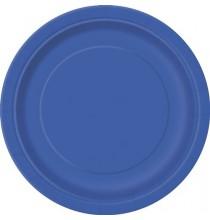 Grandes Assiettes Papier Bleu Royal Vaisselle Jetable de Fête