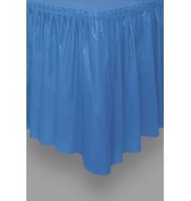 Jupe de table Plastique Bleu Royal Vaisselle Jetable de Fête