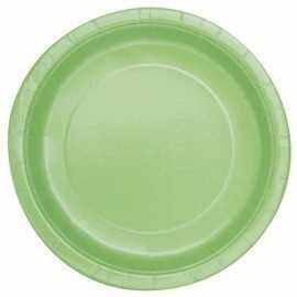 8 Petites Assiettes en Carton Vert Pâle