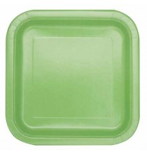 14 Petites Assiettes en Carton Vert Pâle
