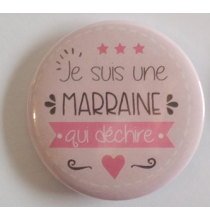 Badge Marraine Qui Déchire