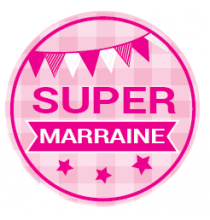 Magnet Flexible Super Marraine Rose