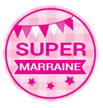 Magnet Flexible Super Marraine Rose