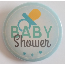 Badge Baby Shower Bleue
