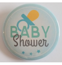 Badge Baby Shower Bleue