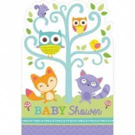 Invitation Baby Shower Animaux de la forêt