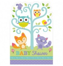 Invitation Baby Shower Animaux de la forêt