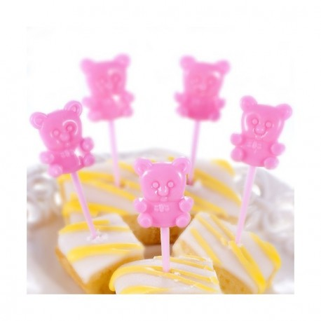 Mini Piques Oursons Rose Cup Cake
