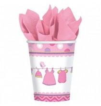 Gobelets Baby Shower rose It's a girl