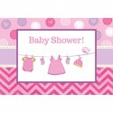 Invitation Baby Shower rose It's a girl