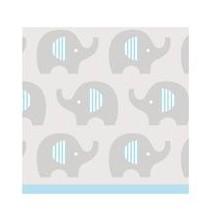 Serviettes Cocktail en Papier Elephant Bleu Pastel