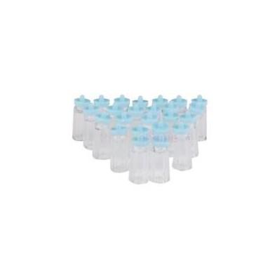 mini biberons bleus pour d coration baby shower. Black Bedroom Furniture Sets. Home Design Ideas