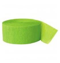 Serpentin Vert Anis Papier Crépon Décoration de Fête