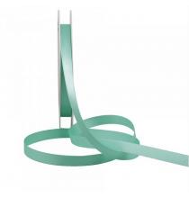 Ruban Satin 10mm fin Vert d'eau au mètre