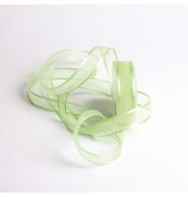 Ruban Vert Pastel 25mm Voile bordure satin au mètre