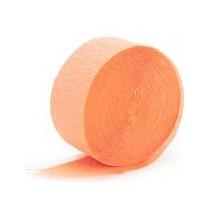 Serpentin Orange Pêche Uni Papier Crépon Décoration de Fête