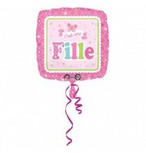 Ballon Alu C'est une Fille Baby Shower Papillons