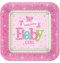 Grandes Assiettes Baby Shower Papillons
