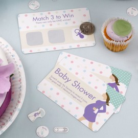 10 Cartes à Gratter Baby Shower Future Maman