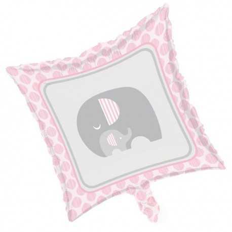 Ballon Alu Elephant Pastel Rose