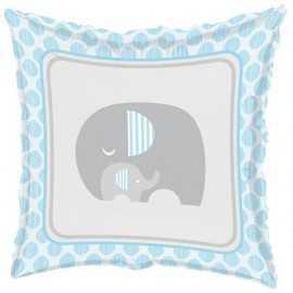Ballon Alu Hélium Bleu Elephant Pastel