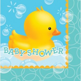 Grandes serviettes Baby Shower Canard