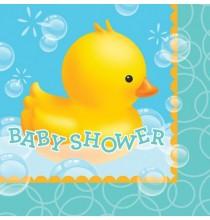 Grandes serviettes Baby Shower Canard
