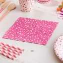 Serviettes en Papier Carnaval Rose Etoiles