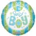 Ballon Rond Baby Boy Bavoir Bleu Vert