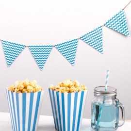 Banderole à fanions Carnaval Bleu Vagues