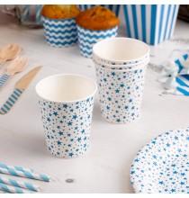 Gobelets en Papier Carnaval Bleu Etoiles