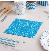 Serviettes en Papier Carnaval Bleu Etoiles
