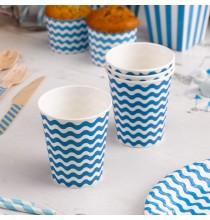 Gobelets en Papier Carnaval Bleu Vagues