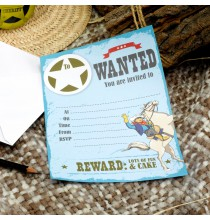 Invitation Anniversaire Wild West Cowboys