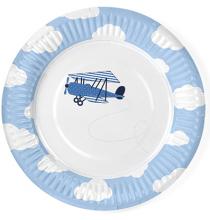 Assiettes en papier Anniversaire Avion dans les nuages