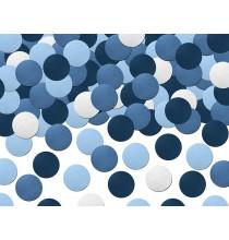 Confettis Ronds Bleu et Blanc Avion dans les nuages