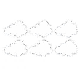 Etiquettes adhésives nuages blancs pour Candy bar