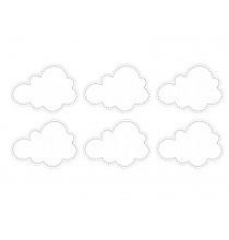 6 étiquettes adhésives Nuages Blancs Anniversaire Avion dans les nuages