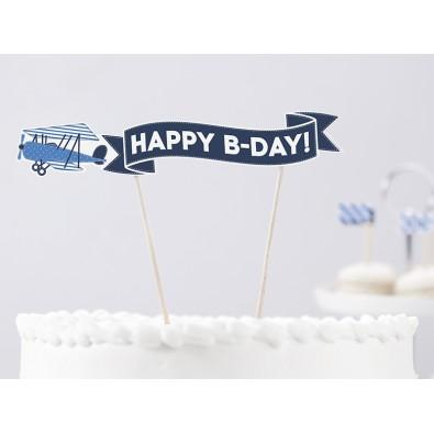 Banderole Décorative pour Gâteau Anniversaire Petit Avion et Nuage