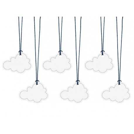 Etiquettes décoratives nuage Anniversaire Avion dans les nuages