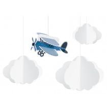 Banderole à Fanions Avion dans les nuages