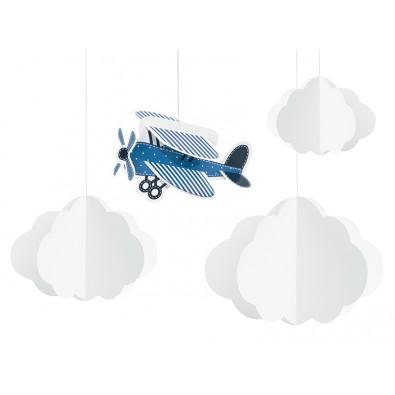 Guirlandes à Suspendre Avion dans les nuages