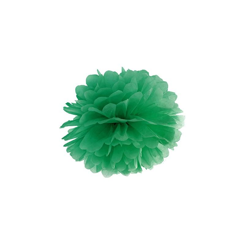 pompon papier de soie 25 cm vert sapind coration de f te. Black Bedroom Furniture Sets. Home Design Ideas