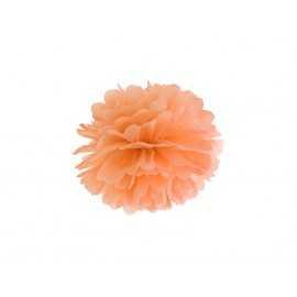 Pompon Papier de Soie 25cm Orange clair Décoration de Fête